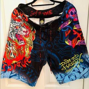 Ed Hardy rare board shorts. NWOT.